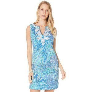 LILLY PULITZER Harper Shift Dress Blue Haven Small